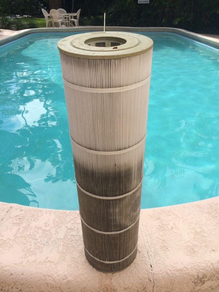 Замена фильтра для бассейна