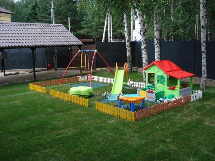 Игровая зона для детей на даче