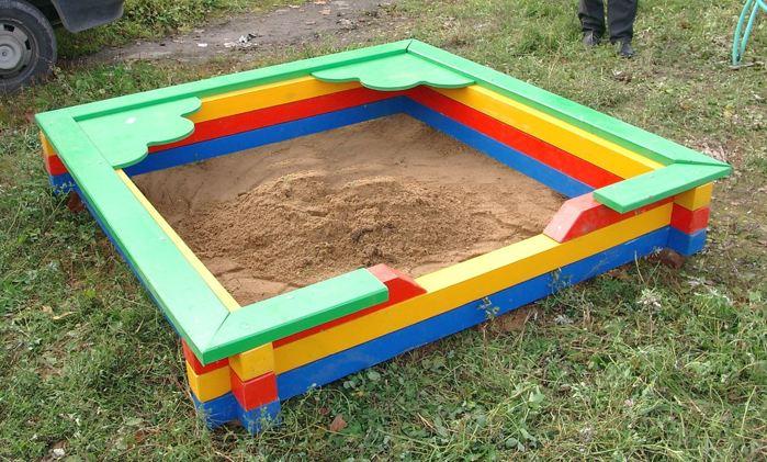 Простая песочница для детей