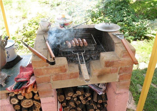 Мангал и барбекю на даче своими руками