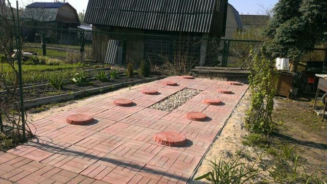 Площадка для бани бочки