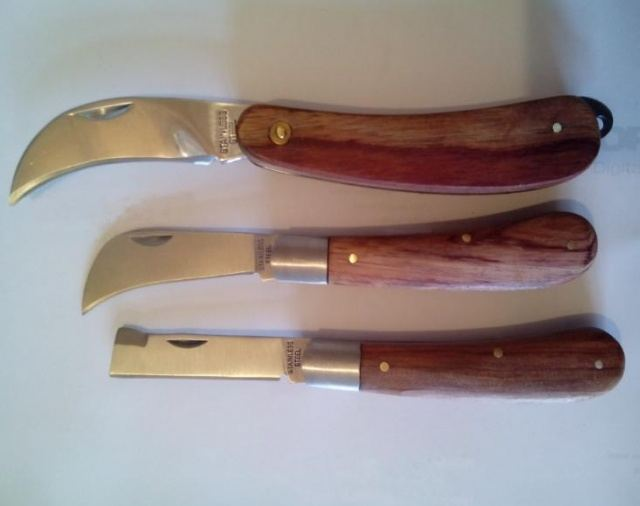 Нож окулировачный для сада