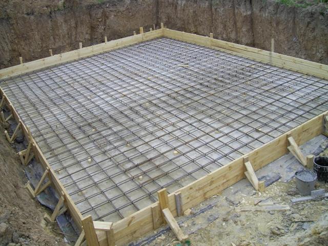 Армирование плиты фундамента