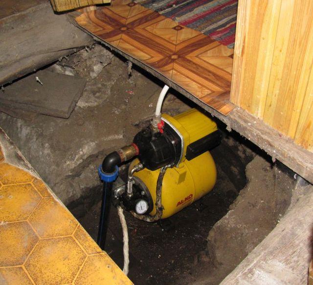 Nasosnaya stantsiya v podvale
