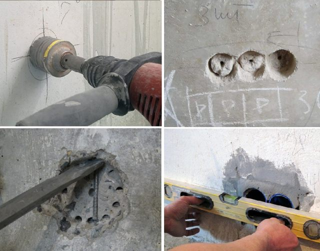 штробление стены под розетки