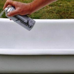 как покрасить ванну балончиком