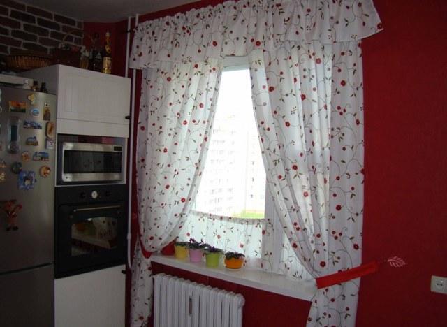 Сшить занавески на кухню своими руками фото для дачи