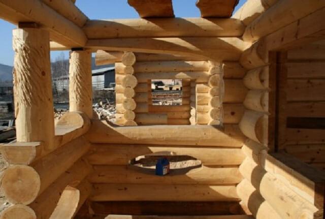 Строительство деревянного дома из лиственницы