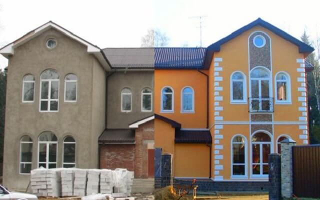 облицовка с фасадным декором