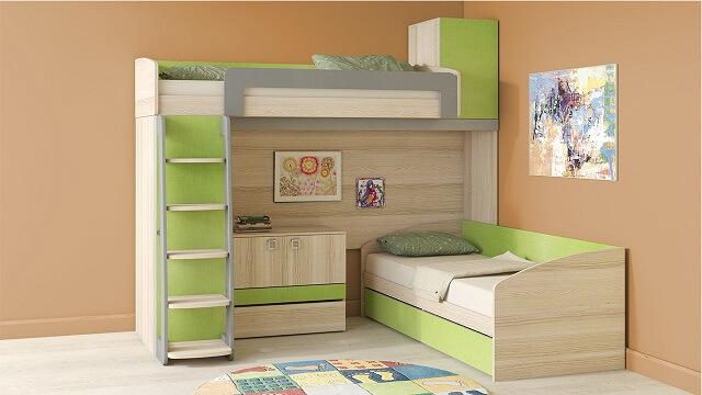 угловая двухспальная кровать