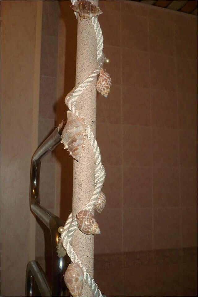 декор трубы в ванной