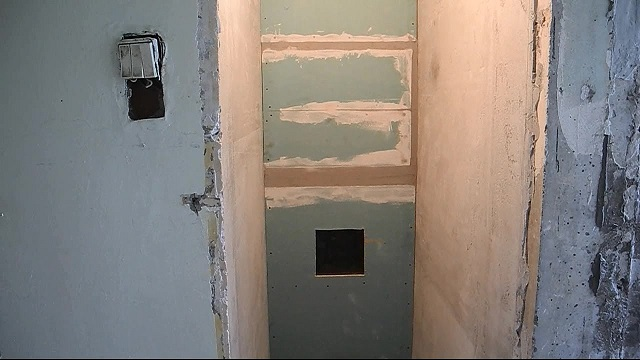 короб в туалете из гипсокартона