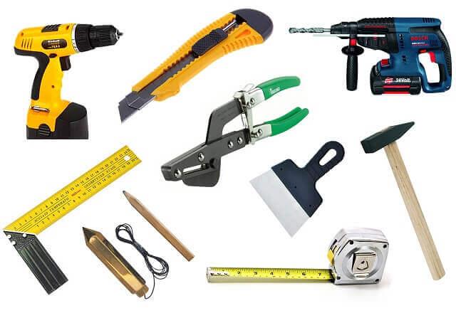 Инструменты для создания короба из гипсокартона