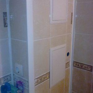 квадратный короб в туалете