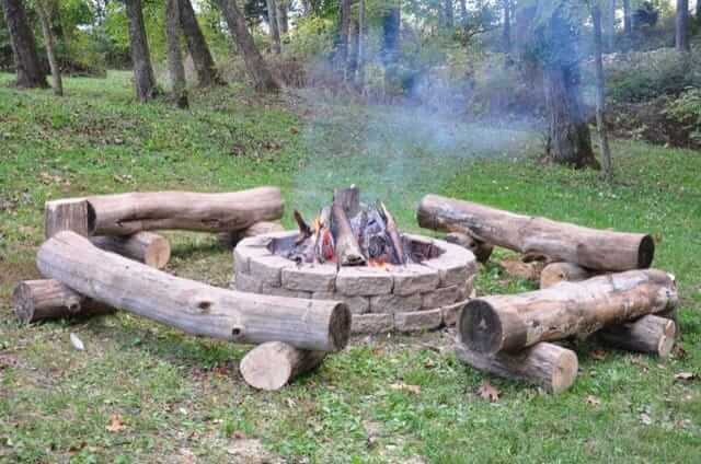 log-fire-pit-benches